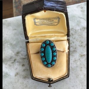 Navajo sterling turquoise ring